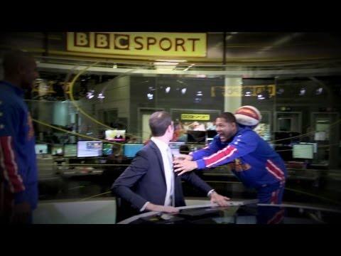 HARLEM GLOBETROTTERS INVADE BBC SPORT