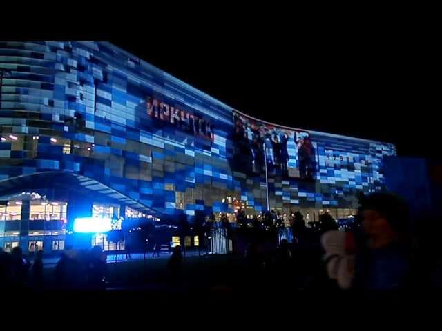 """Айсберг"", дворец спорта - ночное шоу в Олимпийском парке"