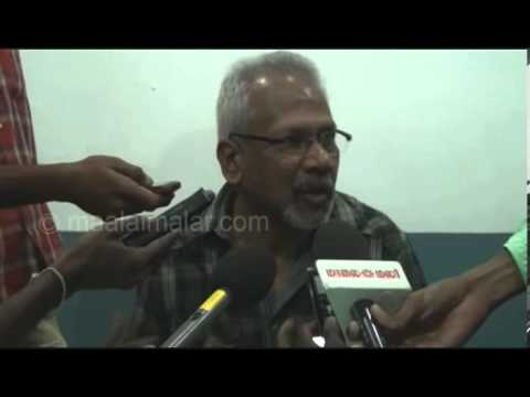 Mani Ratnam interview by video.maalaimalar.com