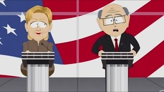 Hillary Clinton debates Mr. Garrison & Caitlyn  Jenner (South Park)