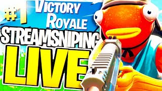INSANE STREAM SNIPING LIVE // OPEN LOBBY (iFeloh Fortnite Stream)