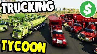 ALL NEW Trucking TYCOON & Empire Builder | TransRoad: USA Gameplay