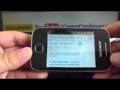 Como bloquear desbloquear el giro de pantalla en samsung Galaxy Y S5360 español Full HD