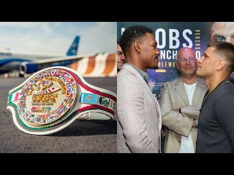 WBC представили уникальный пояс Головкин–Канело, Деревянченко и Джейкобс (Face off)
