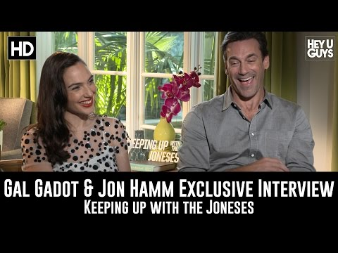 Gal Gadot & Jon Hamm Exclusive Interview - Keeping Up With The Joneses