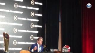 Alabama coach Nick Saban praising Dabo Swinney for job at Clemson + respect for alma mater #GateHous