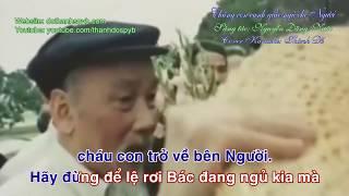 Chúng con canh giấc ngủ cho Người karaoke. Sáng tác: Nguyễn Đăng Nước