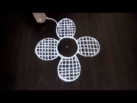 Very Simple Chukkala Muggulu || 3 x 2 Dots Kolam || Easy Creative Design || Fashion World
