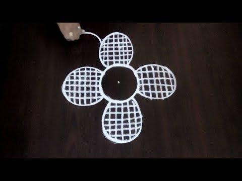 Very Simple Chukkala Muggulu || 3 x 2 Dots Kolam || Easy Creative Design || Fashion World