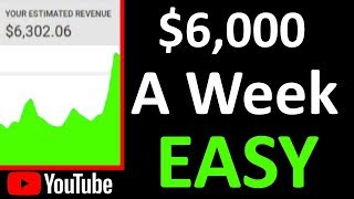 How to Make Money on YouTube Without Making Videos ($6K a Week)
