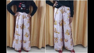 DIY Wrap Pants In 10 Min | Cutting And Sewing