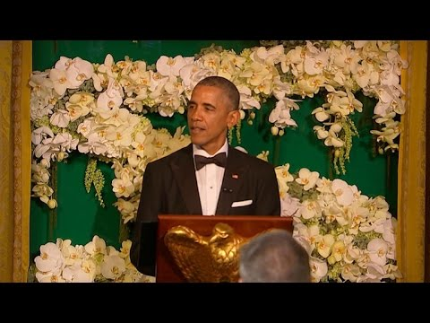 President Obama jokes about Ted Cruz at White House state dinner
