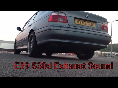 2002 BMW E39 530d - Exhaust sound and acceleration - First gear