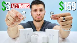 $3 Fake AirPods vs $159 AirPods.. RIP Ears?