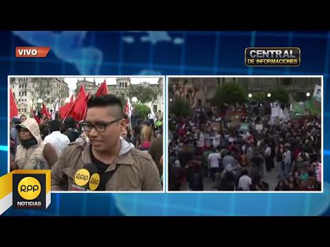 Multitudinaria concentración de jóvenes en protesta por la Ley laboral juvenil│RPP