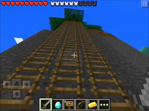 Minecraft Pocket Edition Hunger Games NEW MAP! #5  I FELL FROM HEAVEN