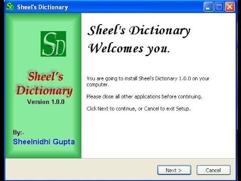 How to install free Sheels Hindi to English Dictionary by Sheelnidhi Gupta