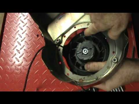 Small Engine Repair Replacing The Starter Pull Rope On A
