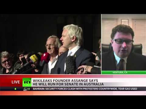Julian Assange runs for Australian Senate