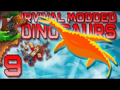 Minecraft: Modded Dinosaur Survival Let's Play w/Mitch! Ep. 9 - Water Dinos!