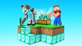 I Made a Minecraft ROBOT to AUTO-MINE DIAMONDS! (Skyblock)