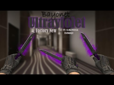 [CS:GO] - Bayonet | Ultraviolet Factory New Showcase