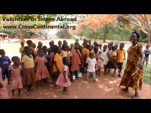 Volunteer abroad doing teaching work in Africa
