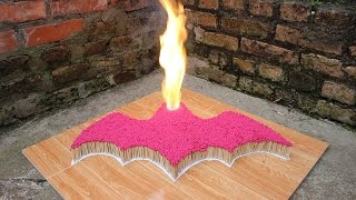 7000 Matches Chain Reaction - Batman - Amazing Fire Domino