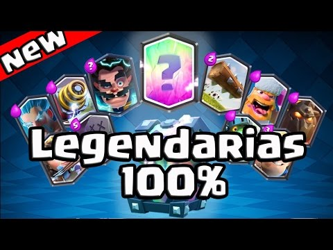 COMO CONSEGUIR CARTAS LEGENDARIAS AL 100% CONFIRMADO | Clash Royale