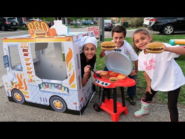 Kids Pretend Play Cooking with BBQ Grill Toy