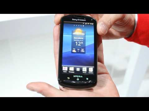 Sony Ericsson XPERIA Pro video demo