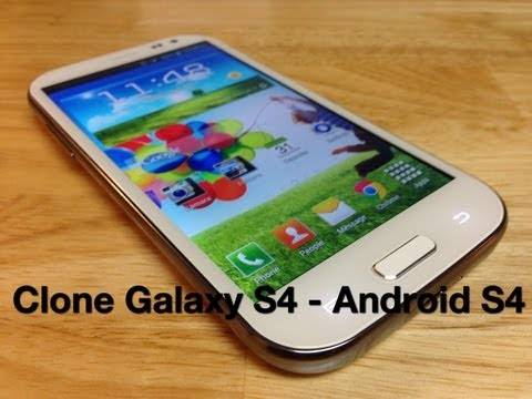 Unboxing Clone Galaxy S4 - Android S4  Celular Chino