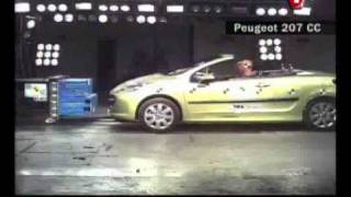 crash test Peugeot 207 CC 2007
