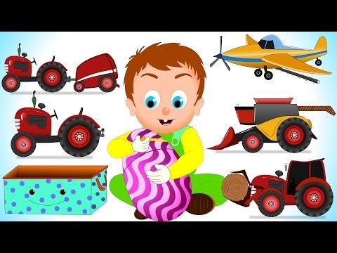 Surprise Eggs Farm Vehicles | Learning Videos for Children | Little Kids TV