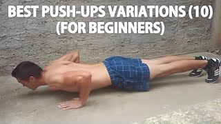 Best Push-Ups Variations for Beginners - Chest, Triceps & Shoulders Workout at Home