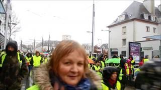 Marche citoyenne gilets jaunes a Brest