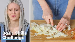 50 People Try to Dice An Onion | Epicurious