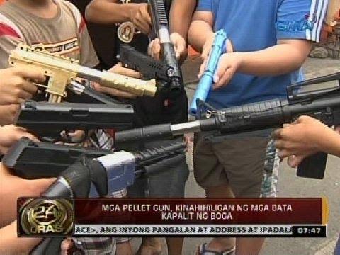 24 Oras: Mga pellet gun. kinahihiligan ng mga bata kapalit ng boga
