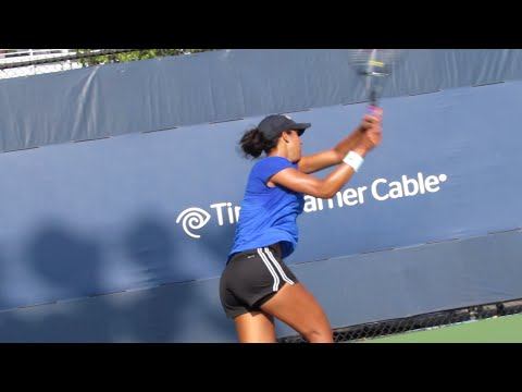 Madison Keys Practice at the 2014 Us Open