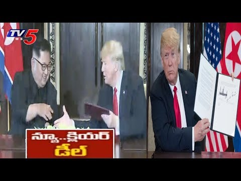 USA President Trump and Kim Jong-un Signed Document Between 2 Countries | TV5 News