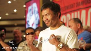 NEW Manny Pacquiao Grand Arrival in Las Vegas featuring Keith Thurman