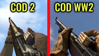 COD WW2 vs Call of Duty 2 - Weapon Comparison