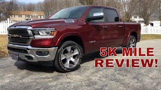 5,000 Mile Review! 2019 RAM 1500 5.7L HEMI Truck (Laramie Edition)