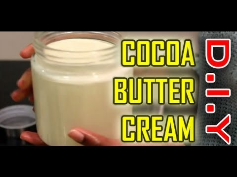How to:  Cocoa Butter Cream: Raw. All Natural for Skin. Hair and Nails!