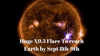 Sun Unleashes X9.3 Solar Flare Biggest Solar Flare in 10yrs Causing Radio Blackouts