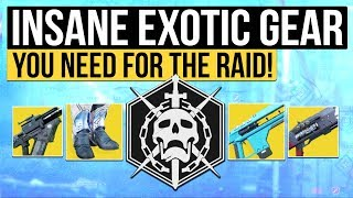 Destiny 2 | OVERPOWERED EXOTICS! - Exotic Gear You Should Use in The Leviathan Raid!
