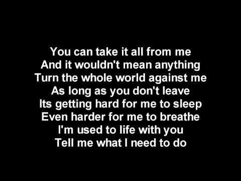 Chris brown Without you lyrics hd