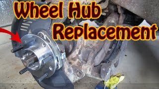 DIY GMC  Chevy 4WD Hub Wheel Bearing & ABS Sensor Replacement - 4x4 Front End Replacement Part 4