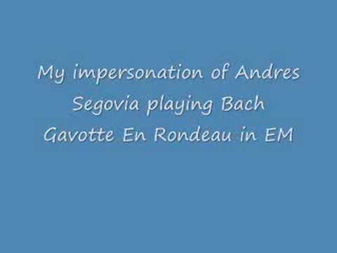 Re: Andrés Segovia Gavotte 1006 -Bach