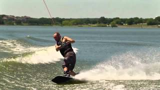 """The Bill""  wakeboarding+ crow + VLX huge wake = pain"